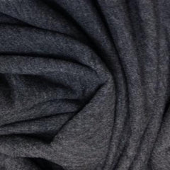 Charcoal Heather Bamboo Stretch French Terry - 300 GSM