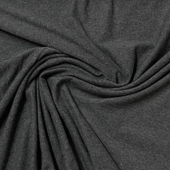 Charcoal Heather Cotton/Spandex Jersey - 200 GSM