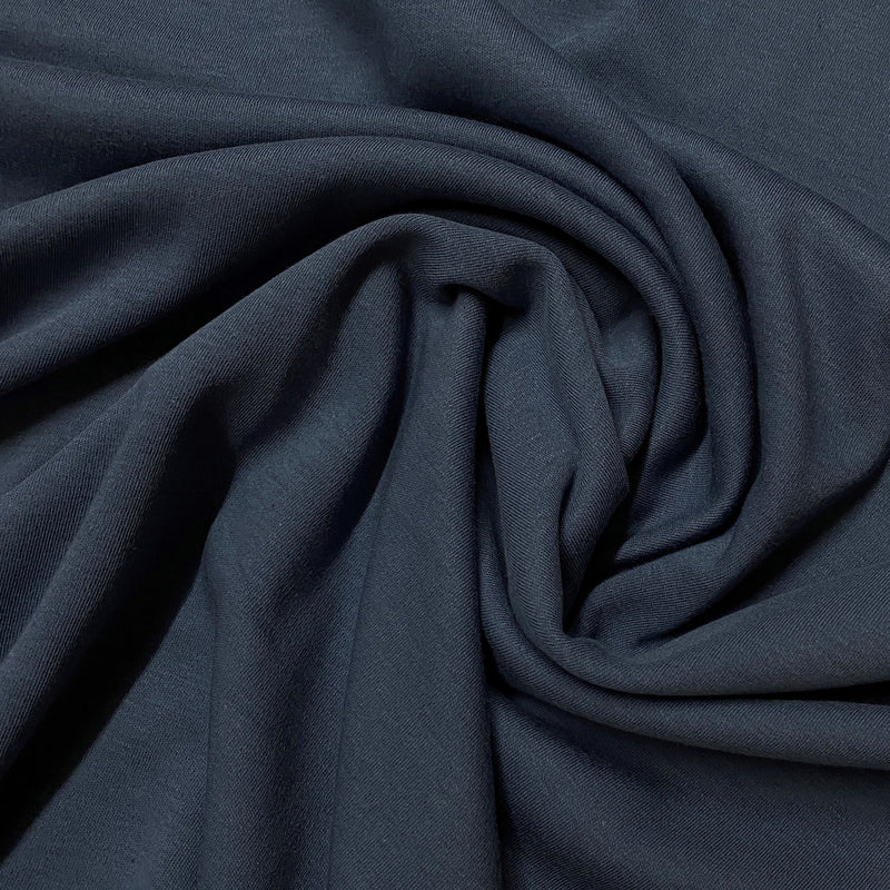Dark Blue Cotton Interlock