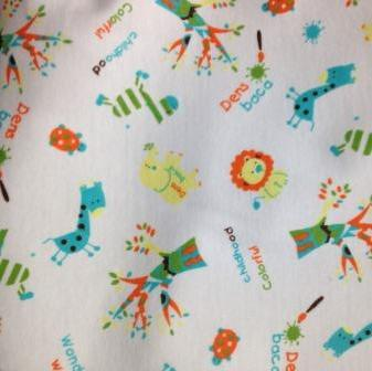 Colorful on Organic Cotton Interlock