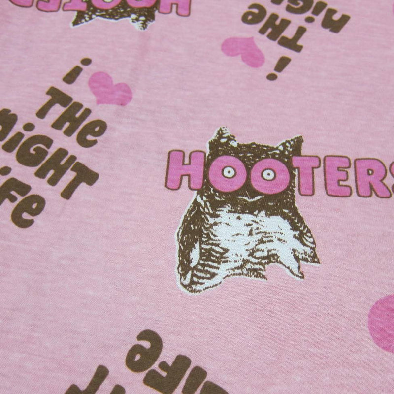 David & Goliath I love The Night Life-Hooters on Pink Cotton Jersey