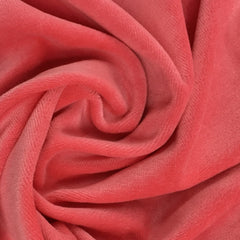 Coral Organic Cotton Velour Imported, $7.63/yd -Rolls