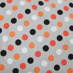 Coral and Peach Dots on Cotton/Spandex Jersey