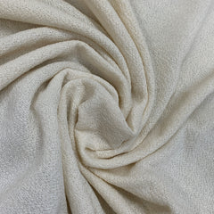 Natural Merino Wool/Polyester Crepe