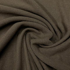 Taupe Merino Wool/Polyester Crepe