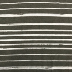 Dark Gray and White Stripes on Bamboo/Spandex Jersey