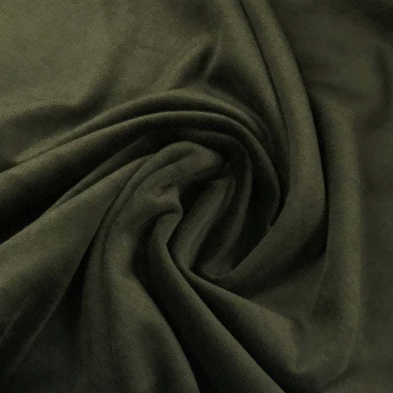 Dark Pine Cotton Velour