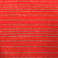 Dark Orange and Gray Stripes on Bamboo/Spandex Jersey