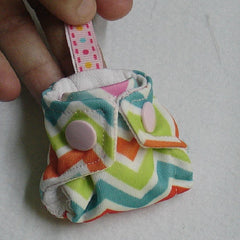 Rocket Bottoms Diaper Keychain