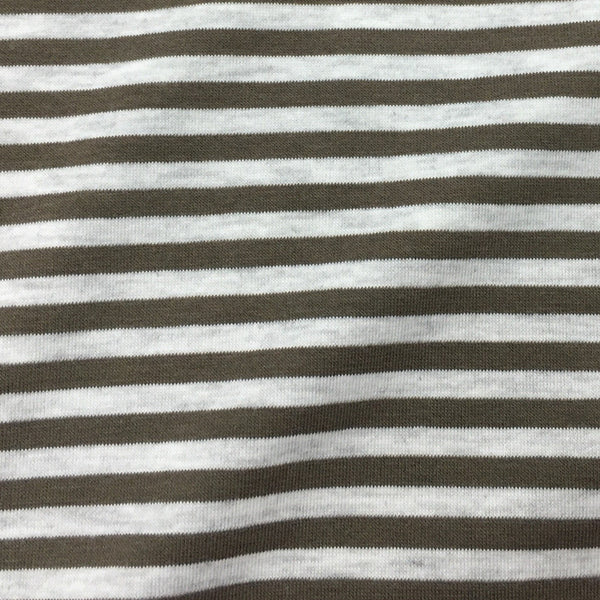 Earth and Gray Micro Stripes on Bamboo/Spandex Jersey