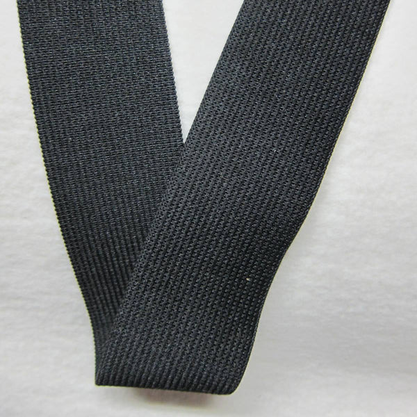 "2 1/2"" Black Knit Elastic"