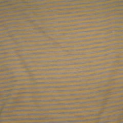 Yellow and Gray Stripes on Cotton/Poly Jersey