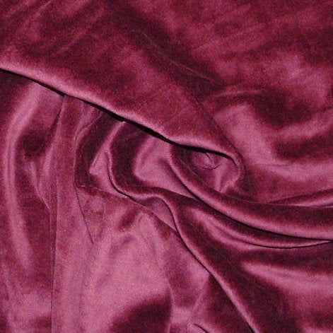 Plum Cotton Velour