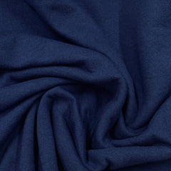 Fleet Blue Organic Cotton Fleece - 240 GSM - Grown in the USA