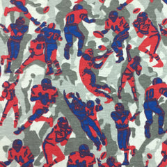 Football Camouflage on Cotton Rib Knit