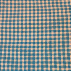 Royal Blue Gingham on Cotton Jersey