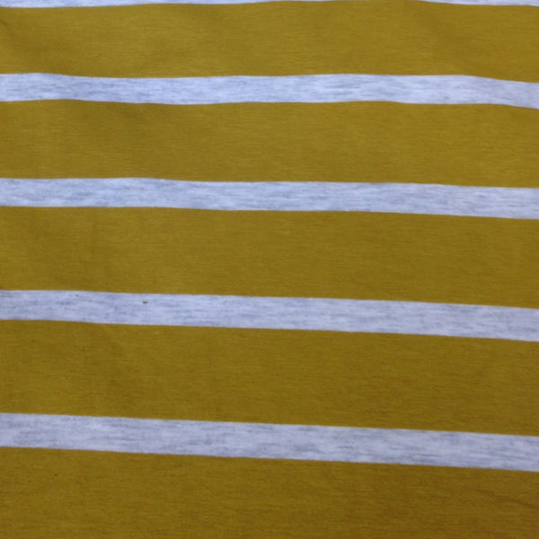 Gold and Gray Stripes on Bamboo/Spandex Jersey