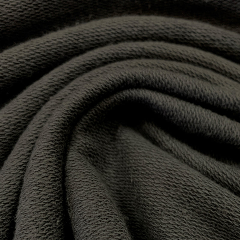 Graphite Medium Weight Organic Cotton French Terry - Grown in the USA