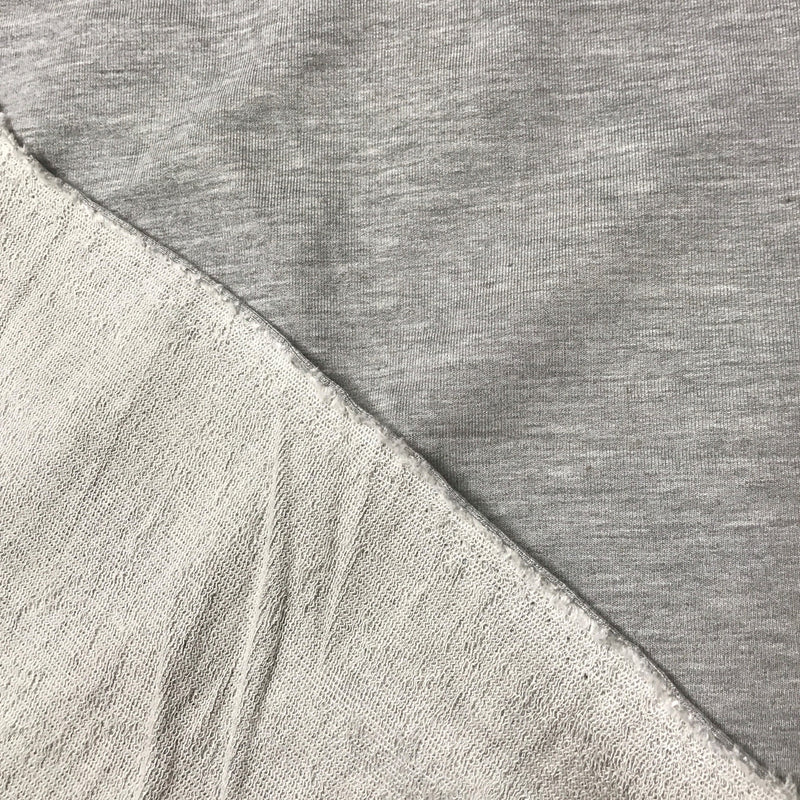 Gray Heather Bamboo Stretch French Terry