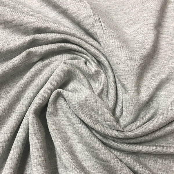 Gray Heather Bamboo Stretch Fleece