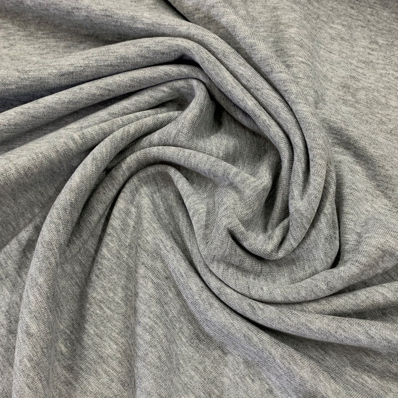 Gray Heather Bamboo/Spandex Rib Knit
