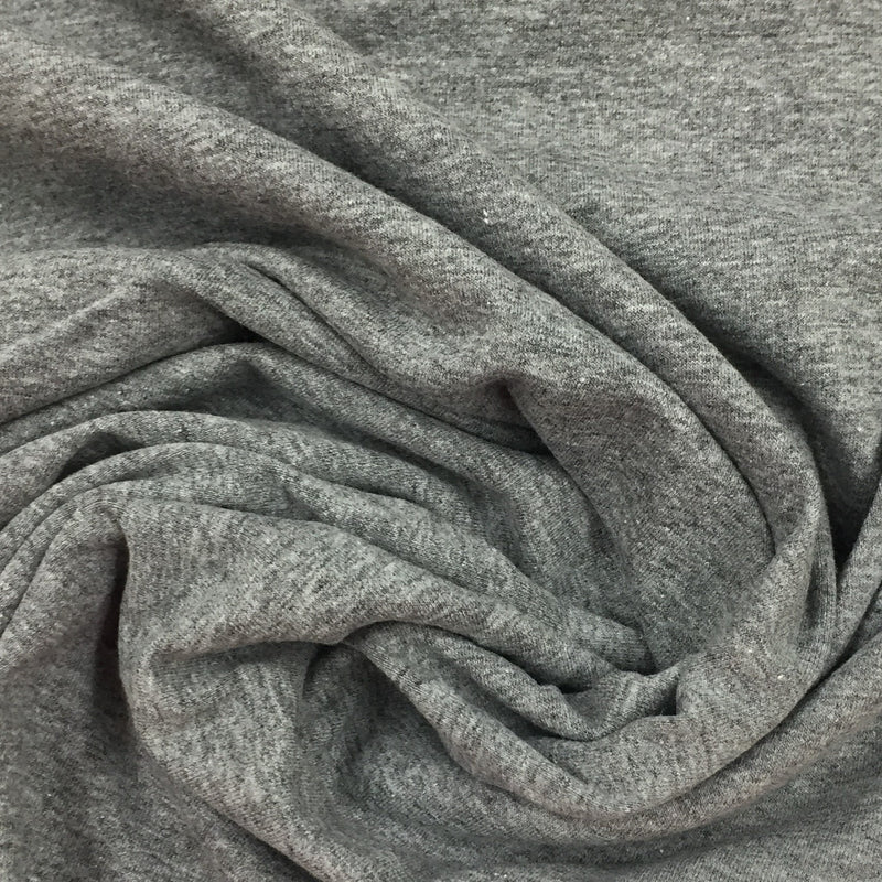 Gray Heather Cotton/Spandex Jersey