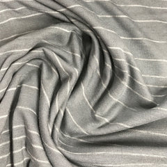 Gray Heather Two Tone Stripes on Bamboo/Spandex Jersey