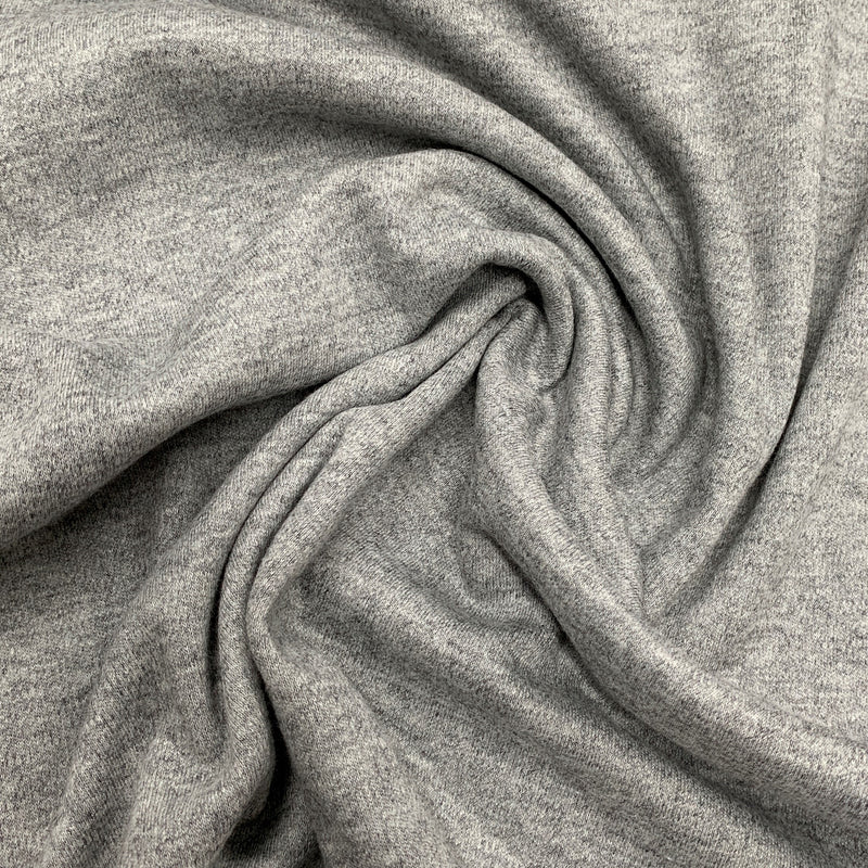 Gray Heather Merino Wool/Cotton Interlock