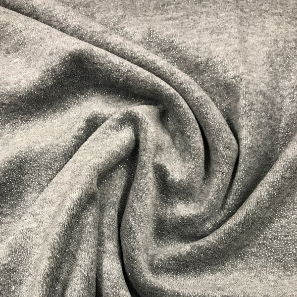 Gray Sparkle Cotton Velour