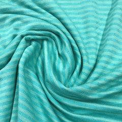 Green Micro Stripe on Green Organic Cotton Jersey