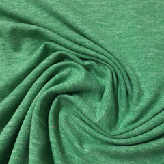 Green Heather Space Dye on Poly/Spandex Jersey