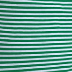 "Green and White 1/8"" Stripes on Cotton/Spandex Jersey"