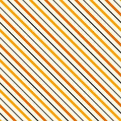 Halloween Stripes on White Organic Cotton/Spandex Jersey