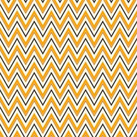 Halloween Chevron on White Organic Cotton/Spandex Jersey