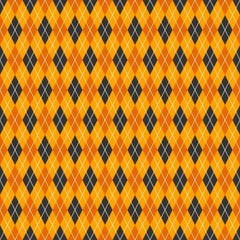 Halloween Argyle on Orange Organic Cotton/Spandex Jersey
