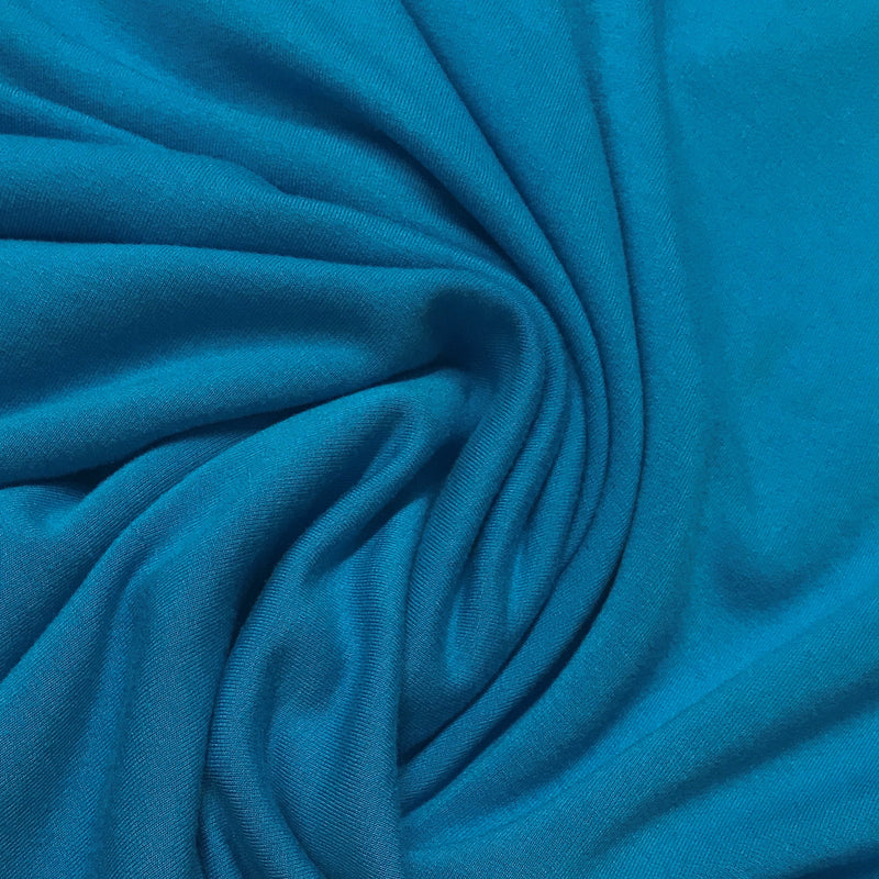 Hot Blue Bamboo Stretch Fleece - 240 GSM