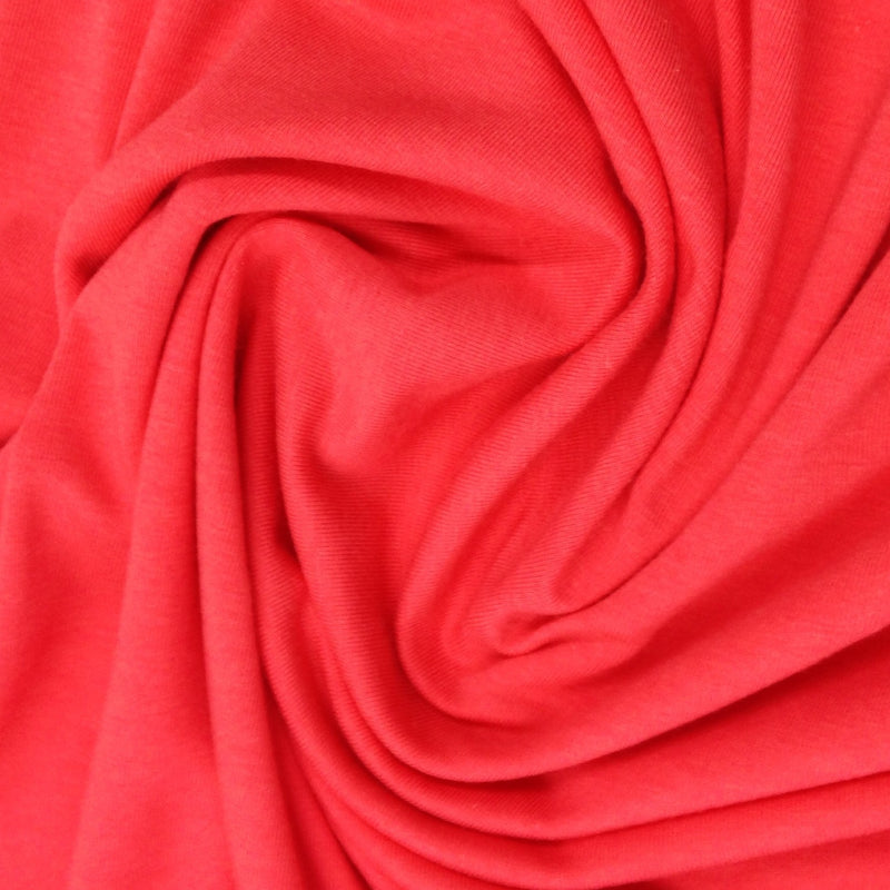 Hot Coral Bamboo Stretch Fleece