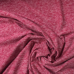 Hot Pink Space Dye on Poly/Spandex Jersey