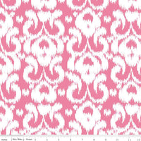 Ikat Hot Pink on Cotton/Spandex Jersey