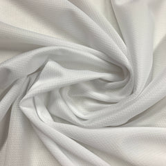 White Polyester Athletic Wicking Jersey