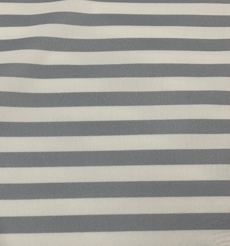 "Gray and White 3/8"" Stripes 1 mil PUL - Made in the USA"