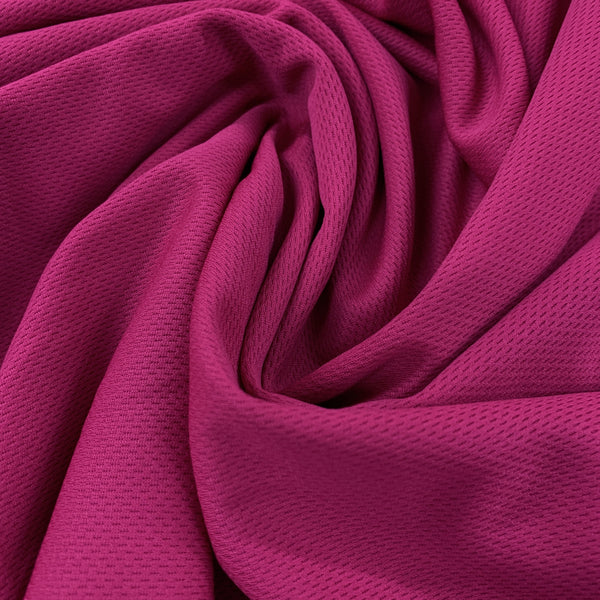 Fuchsia Polyester Athletic Wicking Jersey - Nature's Fabrics
