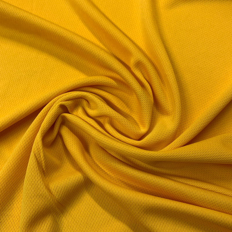 Yellow Gold Polyester Athletic Wicking Jersey