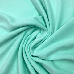 Mint Cotton Velour