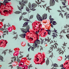 Shabby Roses on Mint 1 mil PUL- Made in the USA