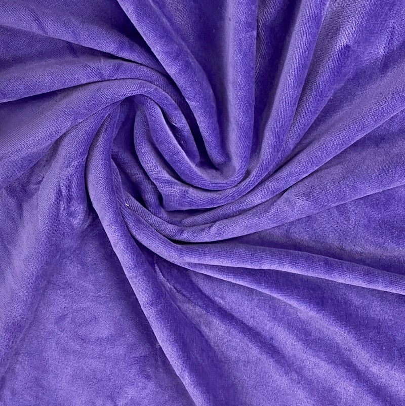 Lavender Cotton Velour
