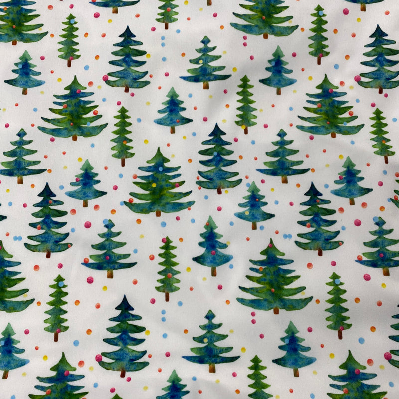 Christmas Tree Dot 1 mil PUL - Made in the USA