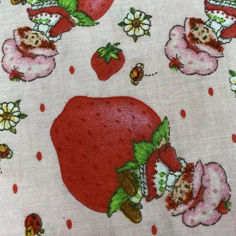 Strawberry Shortcake on Berries on 100% Cotton Woven