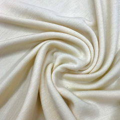 Cream 100% Merino Wool Washable Interlock