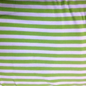 Lime and White Stripes on Cotton/Spandex Jersey